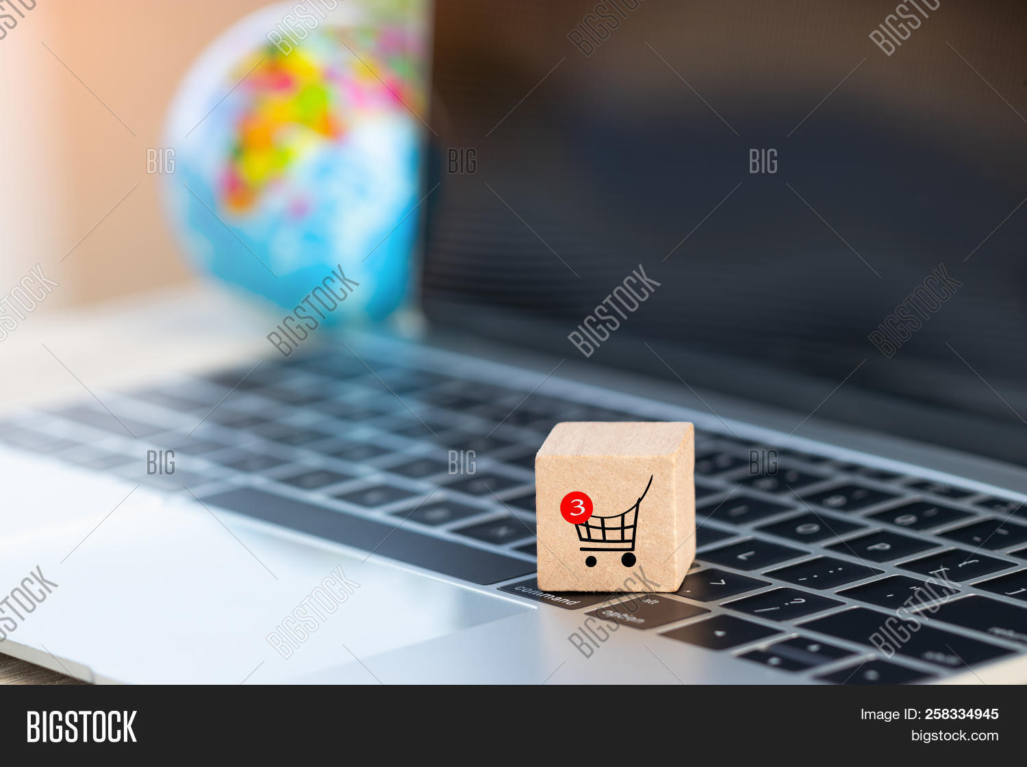 Wooden Cube Shopping Image Photo Free Trial Bigstock