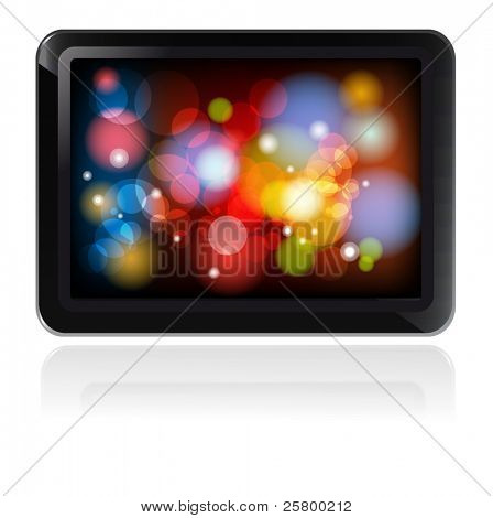 Fictitious design tablet PC EPS 10 vector Illustration.