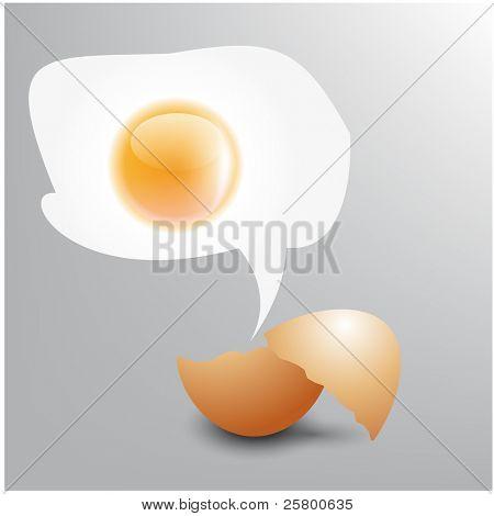 Vector egg speech bubble.