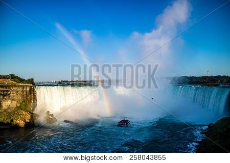 The Well Known Niagara Falls In Canada, Ontario