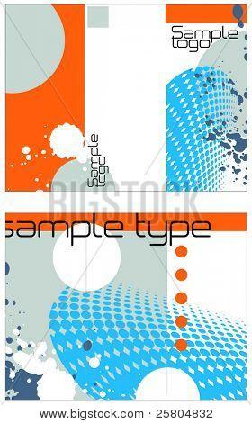 3-fold brochure vector design template