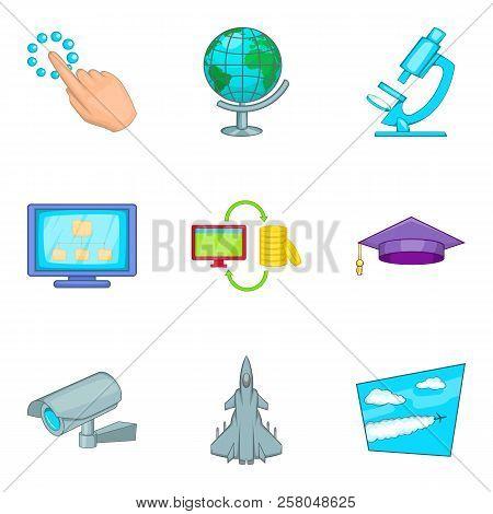 Removable Wireless Tech Icons Set. Cartoon Set Of 9 Removable Wireless Tech Icons For Web Isolated O