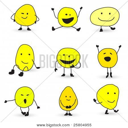 cute smiley characters