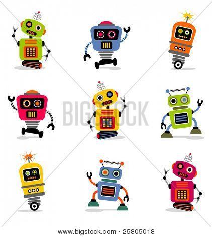 cute little robots set 2