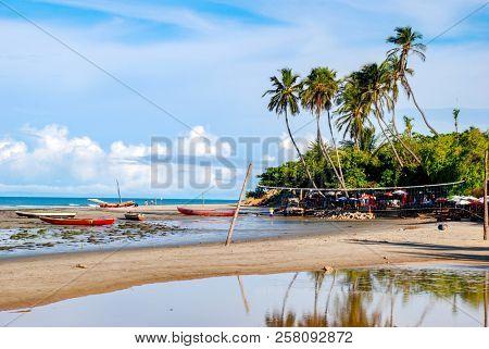 Jericoacoara is a virgin beach hidden behind the dunes of the west coast of Jijoca de Jericoacoara, Ceara, Brazil