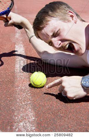 Tennis Player Tantrum
