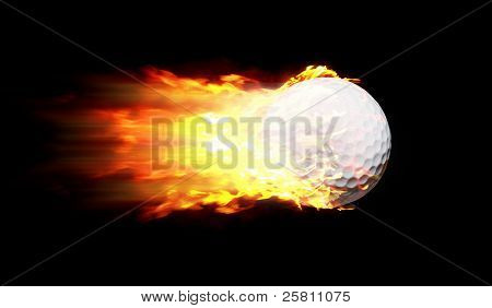 Flame Golf Ball