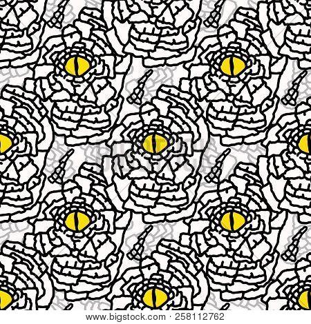 Yellow And Black Nature Snakeskin Eye Graphic