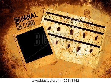 Police Criminal Record File