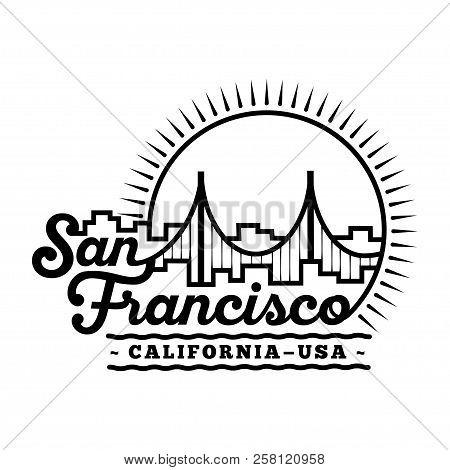 San Francisco Design Template. Vector And Illustration.