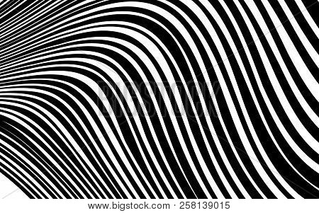 Curve Random Chaotic Lines Abstract Geometric Pattern Texture, Modern, Contemporary Art Illustration