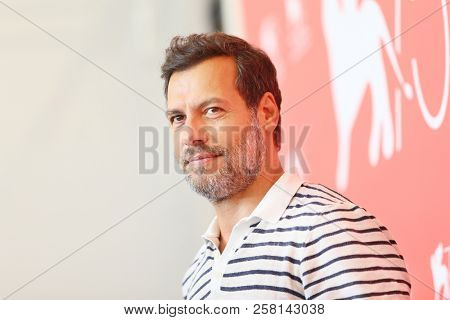 Laurent Lafitte attends 'One Nation One King (Un Peuple Et Son Roi)' photocall during the 75th Venice Film Festival at Sala Casino on September 7, 2018 in Venice, Italy.