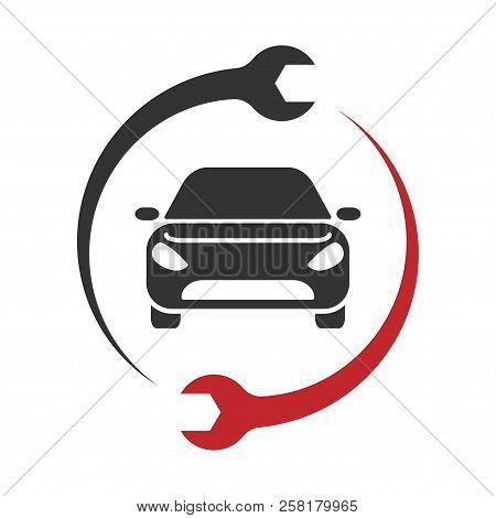 Auto Service Logo. Car Repair Icon. Vector