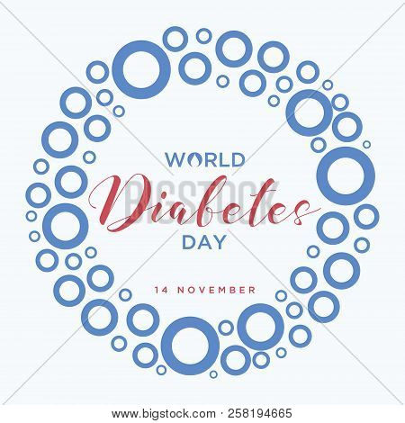 World Diabetes Day Banner With A Blue Circle Symbol Of World Diabetes Day. Concept Design Of The Day