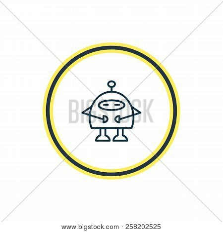 Illustration Of Robots Icon Line. Beautiful Activities Element Also Can Be Used As Chatbot Icon Elem