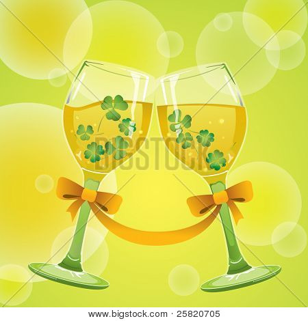 wine with clover