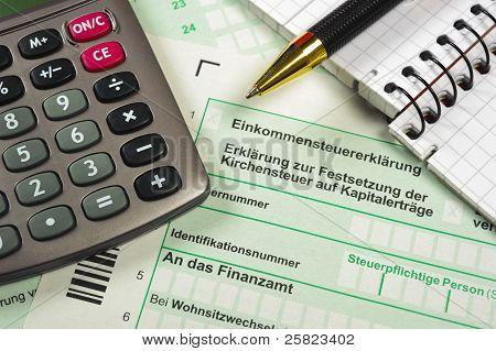 financial tax form