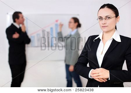 Business Woman In A Meeting
