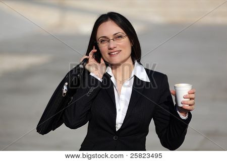 Businesswoman Talking Onthe Phone