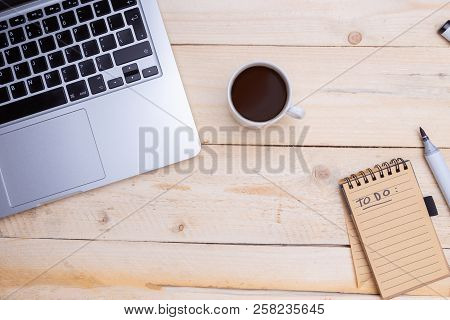 Man Holds In Hand A Note Pad. To Do List. Goals Or Business Tricks And Tips. Task Manager Concept. N