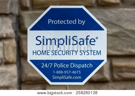 Simplisafe Home Security System Sign And Trademark Logo