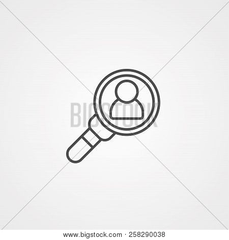 Magnifying Glass,research,find Icon Vector,lens,look Magnifier.loupe Sign, Modern Flat Symbol Vector
