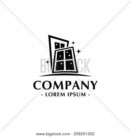 Doors And Windows Logo. Doors Shop And Service. Windows Shop And Service. Vector And Illustration.