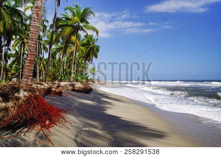 Seascape of the Caribbean Coast in Colombia, South America