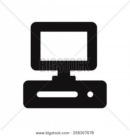 Computer Icon Isolated On White Background. Computer Icon In Trendy Design Style. Computer Vector Ic
