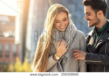 Young Couple Dating In The City.