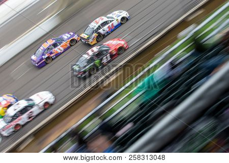 September 10, 2018 - Indianapolis, Indiana , USA:Clint Bowyer (14) races down the front stretch during the Big Machine Vodka 400 at the Brickyard at Indianapolis Motor Speedway in Indianapolis