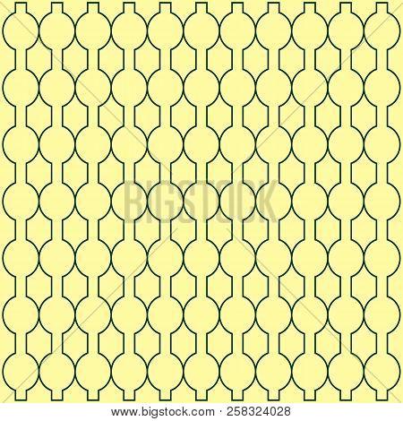 Vector Silhouette Ethnic Pattern. Simple Monochrome Geometric Background. Square Pattern. Decor Patt