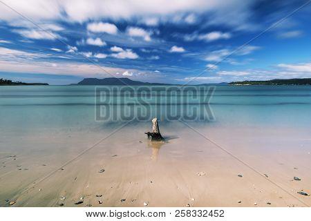 Beautiful Raspins Beach Conservation Reserve In Orford On The East Coast Of Tasmania, Australia Duri
