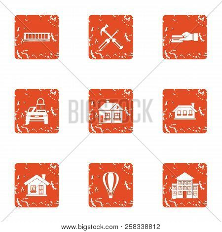Payment Resource Icons Set. Grunge Set Of 9 Payment Resource Icons For Web Isolated On White Backgro