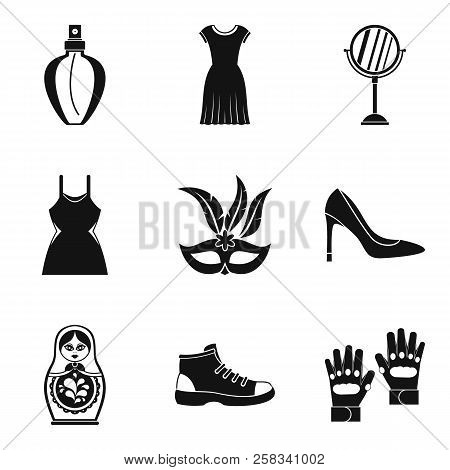 Retail Space Icons Set. Simple Set Of 9 Retail Space Icons For Web Isolated On White Background