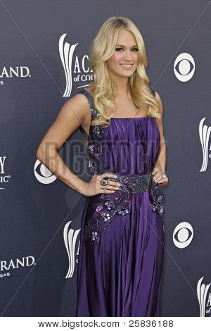 LAS VEGAS - APRIL 3 - Carrie Underwood attends the 46th Annual Academy of Country Music Awards in Las Vegas, Nevada on April 3, 2011.