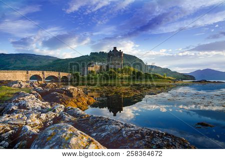 Tourists Favourite Place In Scotland - Isle Of Skye. Very Famous Castle In Scotland Called Eilean Do