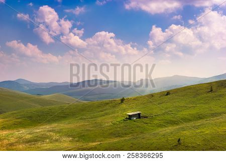 Sky And Mountain Landscape. Nature Landscape. Clouds And Lake Landscape. Outdoor Traveling Landscape