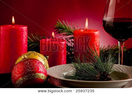 Decorated Christmas Table