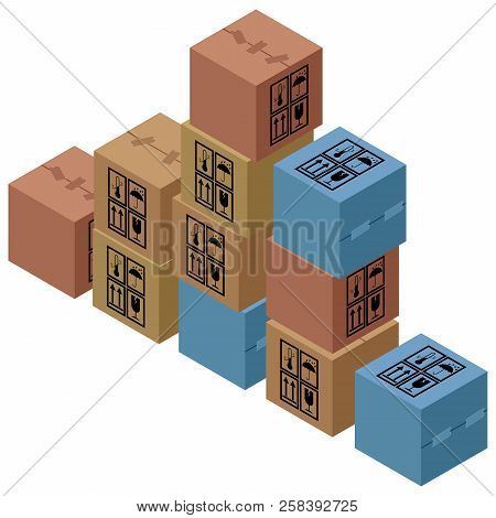Box Icon. Vector Illustration Of Packing Boxes. Cardboard Box. Sorting Of Parcels. Cardboard Boxes S