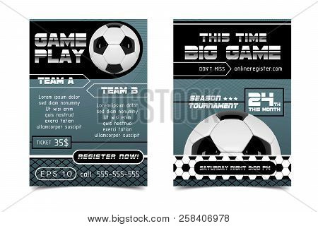 soccer poster design vector photo free trial bigstock