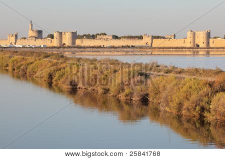 Medieval Town Aigues-mortes, France