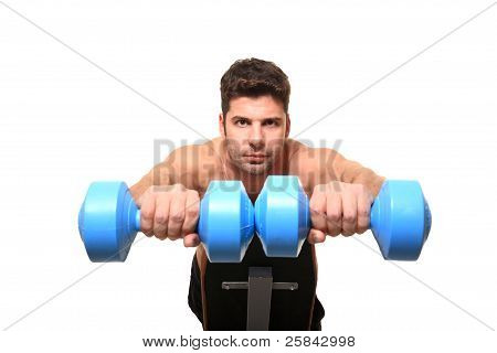 Personal Trainer Shows Excersice