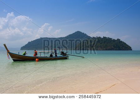 Traditional Thai Longtail Boat At Phuket ,thailand