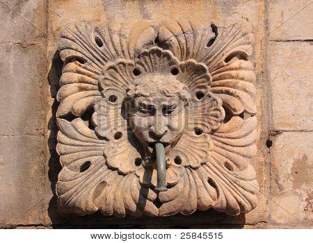 Dubrovnik Fountain gargoyle