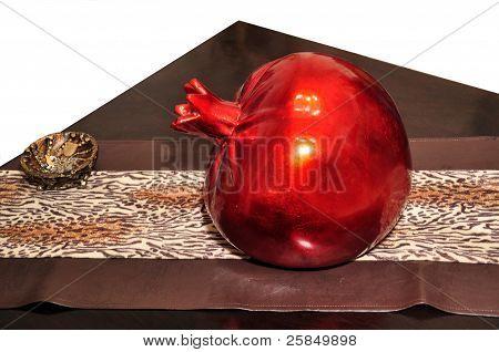 Red large decorative pomegranate