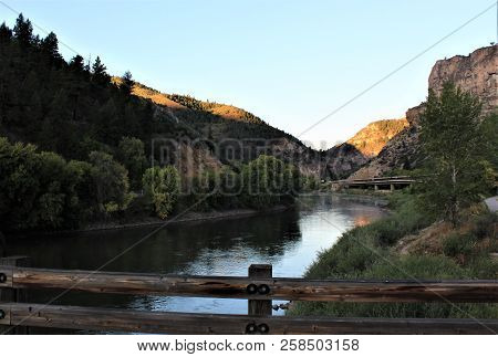 Early Morning Along The Colorado River In The Rockies.