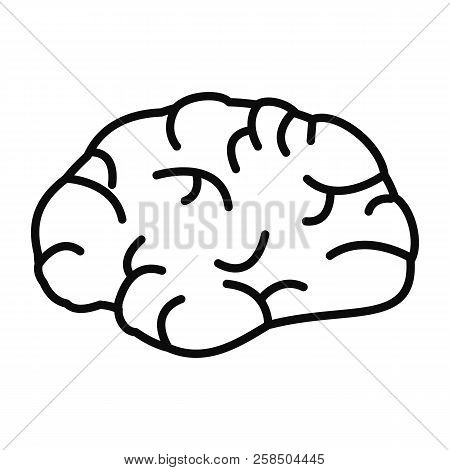Brainstorming Icon. Outline Brainstorming Vector Icon For Web Design Isolated On White Background