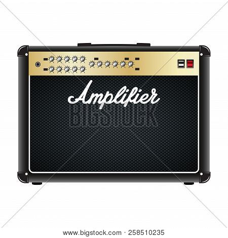 Guitar Combo Amplifier, Amp. Vector Realistic Illustration Isolated On A White Background.