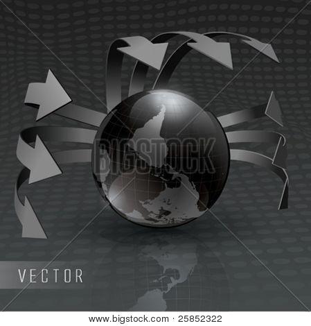 Vector Silver Earth